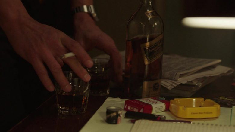 "Johnnie Walker Whisky and Winston Cigarettes in The Deuce - Season 3, Episode 1, ""The Camera Loves You"" (2019) - TV Show Product Placement"