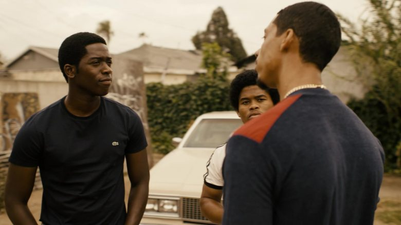 """Lacoste T-Shirt Worn by Damson Idris in Snowfall - Season 3, Episode 9, """"Blackout"""" (2019) - TV Show Product Placement"""