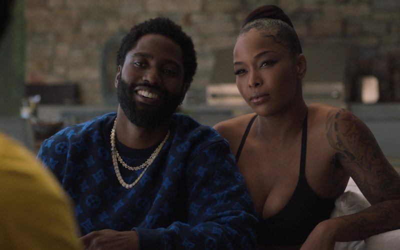 Louis Vuitton Black & Blue Sweatshirt Worn by John David Washington as Ricky in Ballers (5)