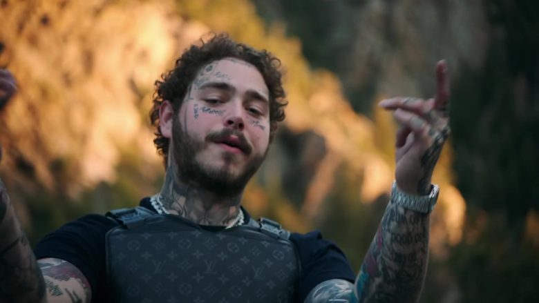 Louis Vuitton Bulletproof Vest Worn by Post Malone in Saint-Tropez (2019) - Official Music Video Product Placement