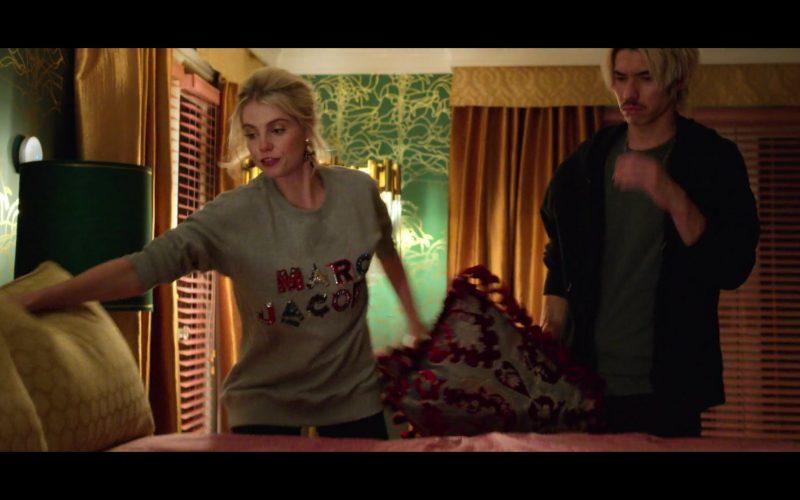 Marc Jacobs Sweatshirt Worn by Lucy Boynton as Astrid Sloan in The Politician