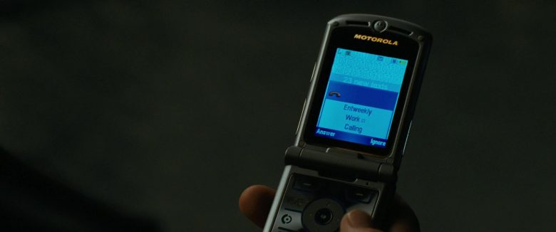 Motorola Razr Mobile Phone in The Death and Life of John F. Donovan (2018) - Movie Product Placement