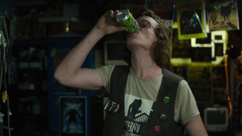 Mountain Dew Soft Drink Enjoyed by Caleb Landry Jones in The Dead Don't Die (2019) - Movie Product Placement