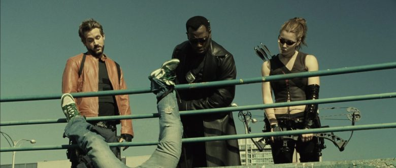 Nike Green Sneakers in Blade: Trinity (2004) - Movie Product Placement
