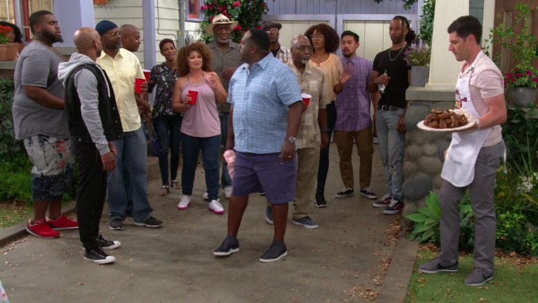 """Nike Grey Sneakers Worn by Max Greenfield as Dave Johnson in The Neighborhood - Season 2 Episode 1 """"Welcome to the Re-Rack"""" (2019) TV Show"""