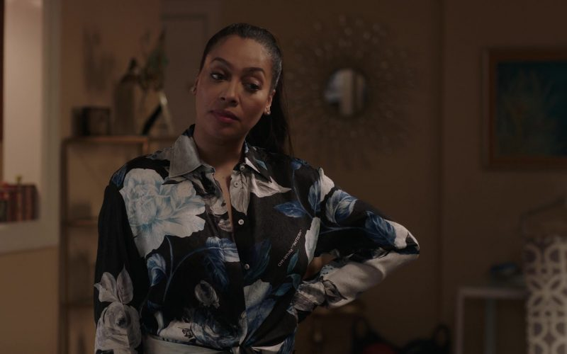 Off-White Pattern Shirt Worn by La La Anthony in Power (2)
