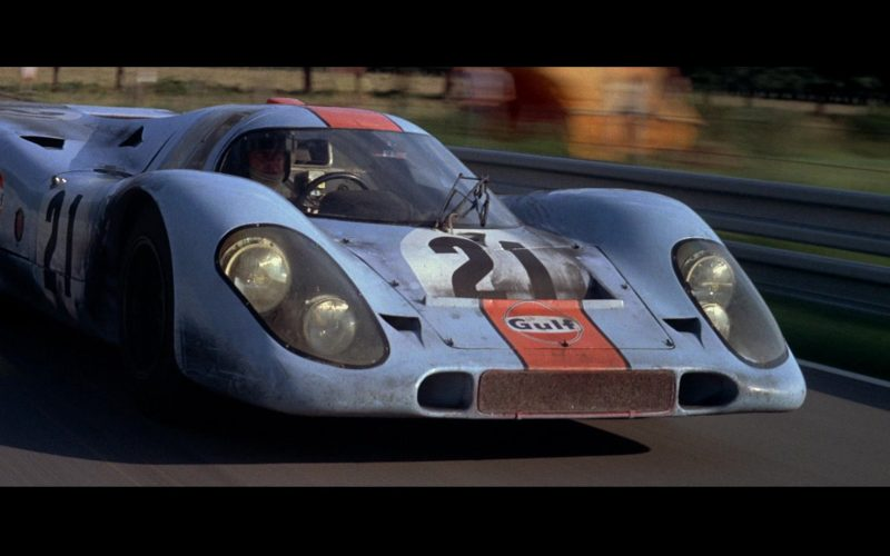 Porsche 917 K [022] Blue Sports Car and Gulf Stickers in Le Mans (7)