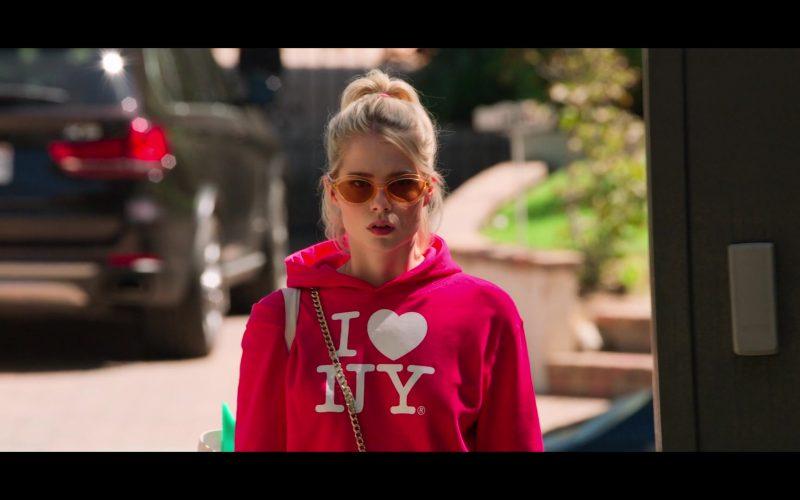Quay Orange Sunglasses Worn by Lucy Boynton as Astrid Sloanin The Politician
