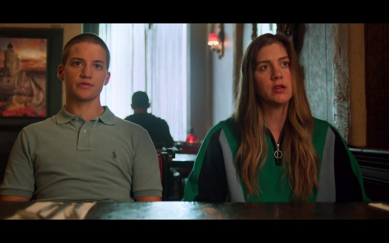 Ralph Lauren Gray Polo Shirt Worn by Theo Germaine as James in The Politician (2)