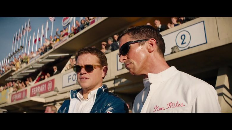 Ray-Ban 4089 Balorama Worn by Christian Bale as Ken Miles in Ford v Ferrari (2019) - Movie Product Placement
