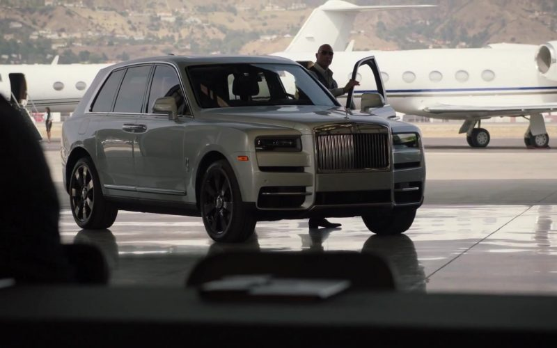 Rolls-Royce Cullinan White SUV Used by Dwayne Johnson as Spencer Strasmore in Ballers