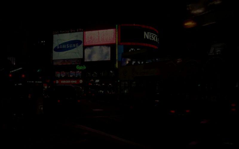 Samsung, Nescafe, Carlsberg, Burger King in Blade 2