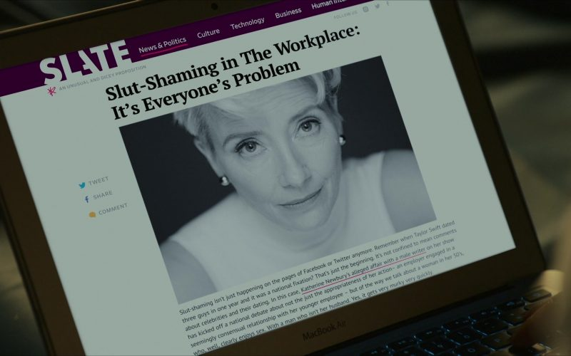 Slate Magazine Website in Late Night