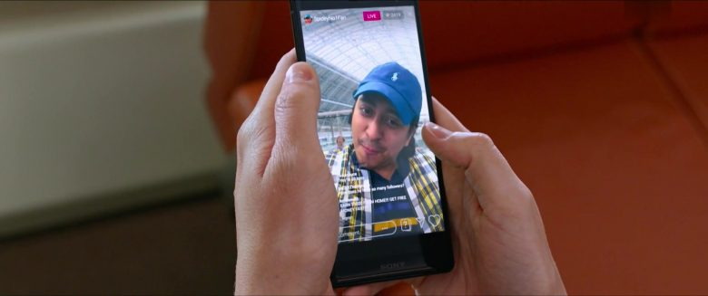 Sony Xperia Smartphone and Ralph Lauren Cap Worn by Tony Revolori in Spider-Man: Far From Home (2019) Movie