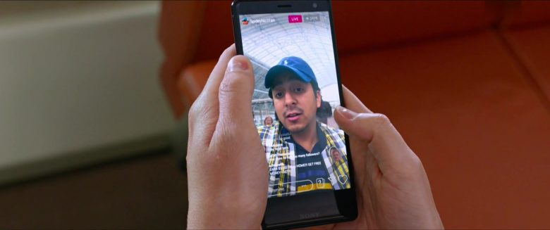 Sony Xperia Smartphone and Ralph Lauren Cap Worn by Tony Revolori in Spider-Man: Far From Home (2019) - Movie Product Placement