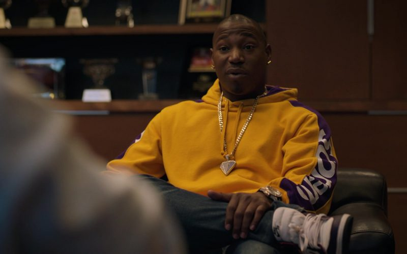 Supreme Yellow Hoodie and Nike Sneakers in Ballers (1)