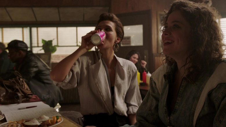 Tab Drink Enjoyed by Maggie Gyllenhaal as Eileen 'Candy' Merrell in The Deuce - Season 3 Episode 2 (2019) - TV Show Product Placement