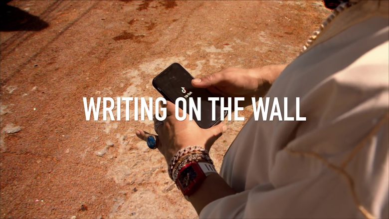 "TikTok in ""Writing on the Wall"" by French Montana ft. Post Malone, Cardi B, Rvssian (2019) - Official Music Video Product Placement"