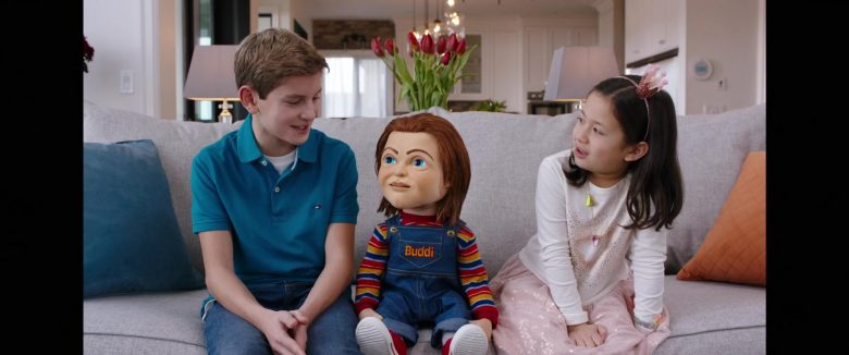 Tommy Hilfiger Boy's Blue Shirt in Child's Play (2019) - Movie Product Placement