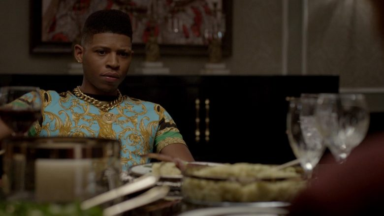 """Versace Medusa Chain & T-Shirt Worn by Bryshere Y. Gray in Empire - Season 6 Episode 1 """"What Is Love"""" (2019) - TV Show Product Placement"""