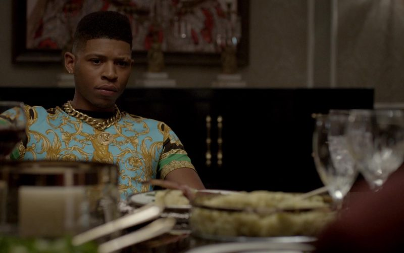Versace Chain & T-Shirt Worn by Bryshere Y. Gray in Empire (1)