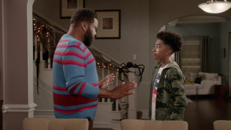 "Abercrombie & Fitch Hoodie Worn by Miles Brown as Jack in Black-ish Season 6 Episode 6 ""Everybody Blames Raymond"" (2019) - TV Show Product Placement"