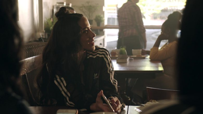 Adidas Women's Black Jacket in Get Shorty Season 3 Episode 3 Strong Move (2)