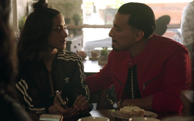 Adidas Women's Black Jacket in Get Shorty Season 3 Episode 3 Strong Move (3)
