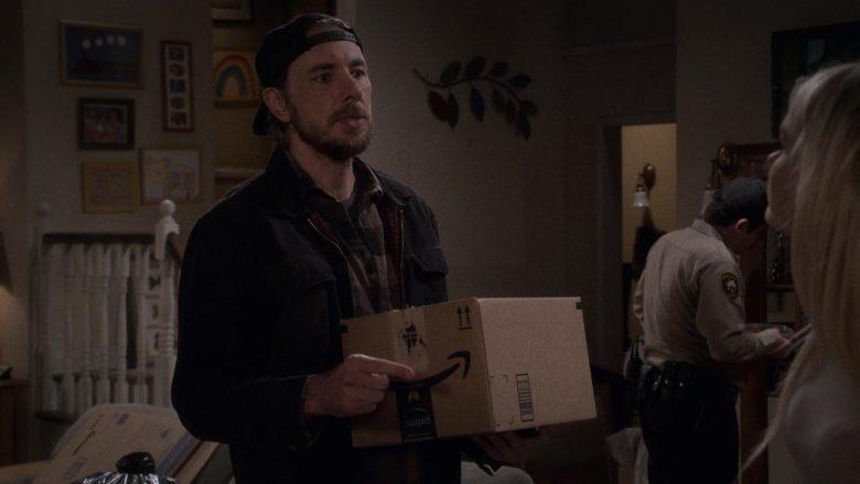 Amazon Prime Box Held by Dax Shepard as Luke Matthews in The Ranch Season 4 Episode 4