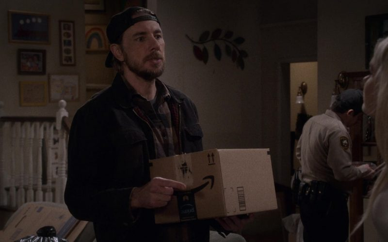 Amazon Prime Box Held by Dax Shepard as Luke Matthews in The Ranch Season 4 Episode 4