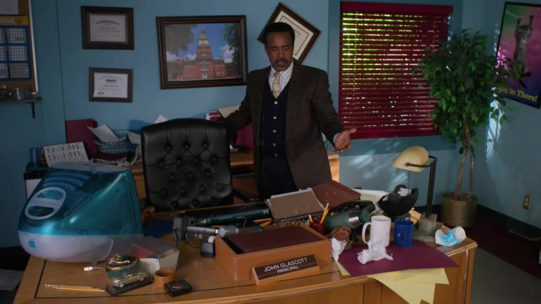 Apple iMac Computer Used by Tim Meadows as Principal John Glascott in Schooled - Season 2, Episode 2, I'll Be There for You (2019) TV Show