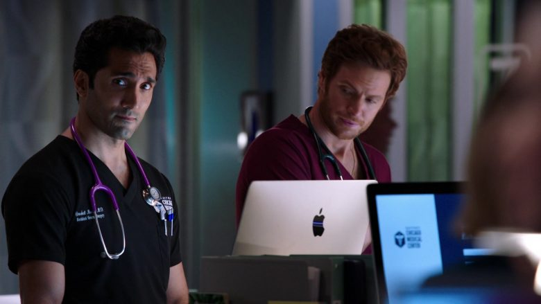 """Apple iMac Computers Used by Nick Gehlfuss and Dominic Rains in Chicago Med Season 5 Episode 6 """"It's All in the Family"""" (2019) - TV Show Product Placement"""