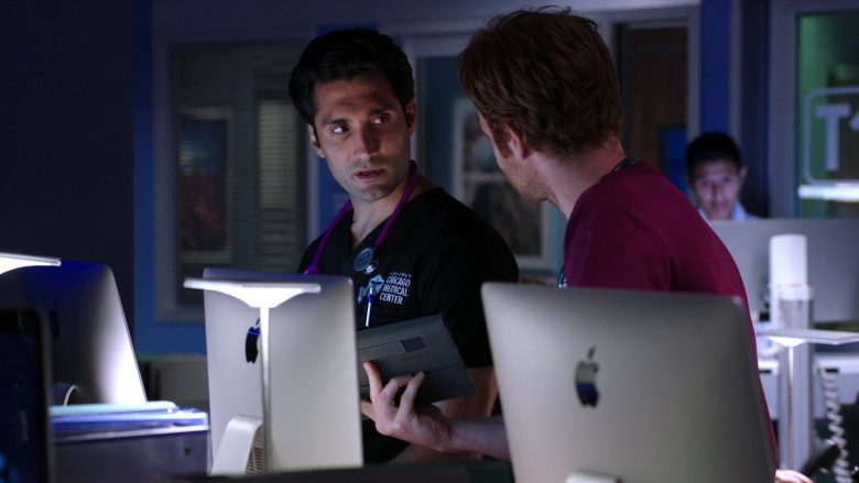 Apple iMac Computers Used by Nick Gehlfuss and Dominic Rains in Chicago Med Season 5 Episode 6 (3)