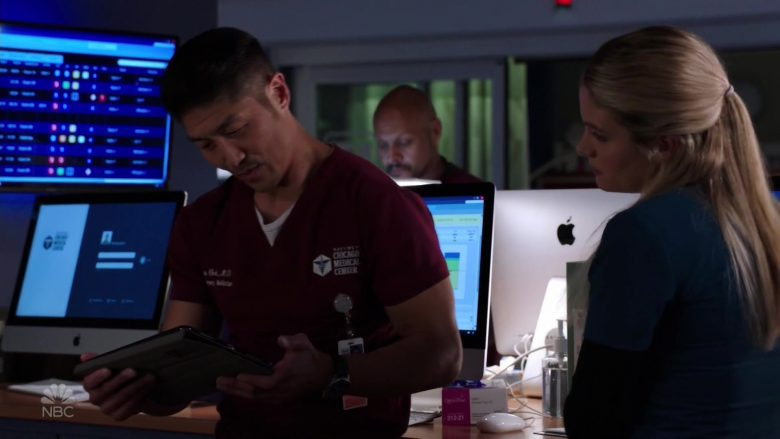 Apple iMac Computers in Chicago Med Season 5 Episode 5 (2)