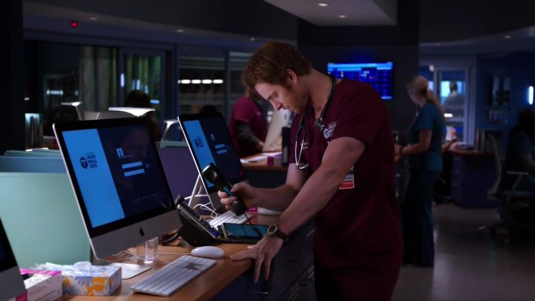 Apple iMac Computers in Chicago Med Season 5 Episode 5 (6)
