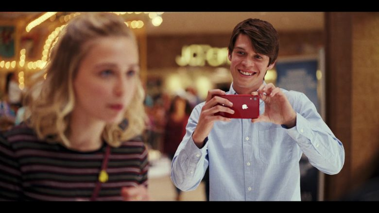 Apple iPhone Red Smartphone Used by Colin Ford as Josh Wheeler in Daybreak Season 1 Episode 1 Josh vs. the Apocalypse Part 1 (2)