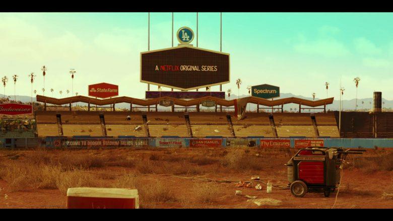 "Budweiser, State Farm, Spectrum, San Manuel Casino, Fly Emirates in Daybreak Season 1 Episode 1 ""Josh vs. the Apocalypse: Part 1"" (2019) - TV Show Product Placement"