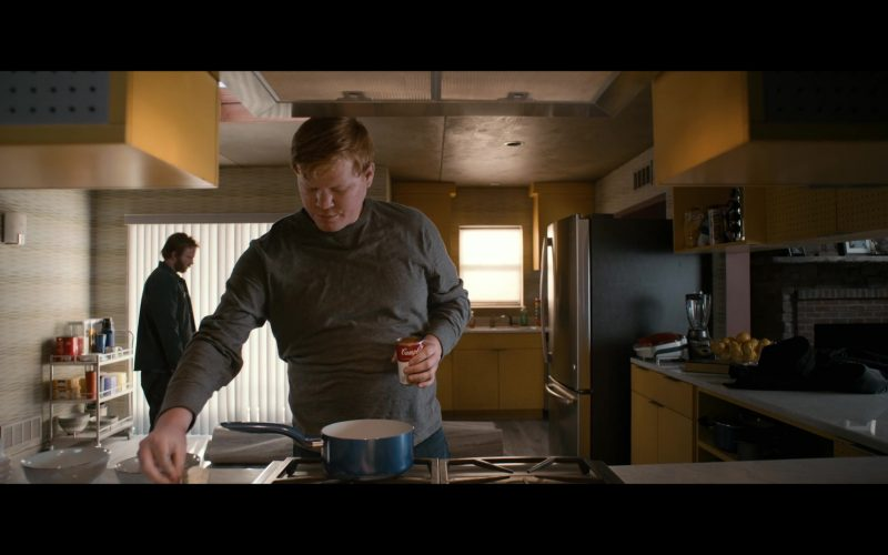 Campbell's Tomato Soup Held by Jesse Plemons as Todd in El Camino A Breaking Bad Movie (1)