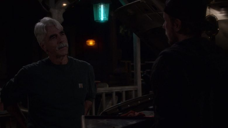 """Carhartt Green Shirt Worn by Sam Elliott as Beau Roosevelt Bennett in The Ranch Season 4 Episode 2 """"I Wish You'd Stay"""" (2019) - TV Show Product Placement"""