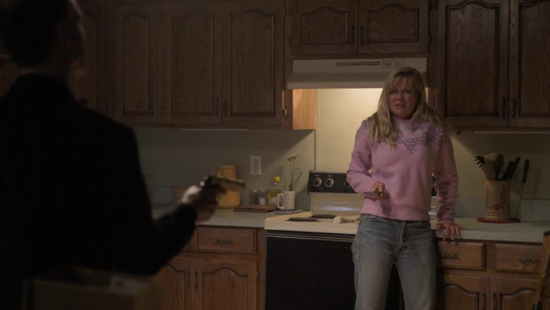 Champion Pink Sweatshirt Worn by Kirsten Dunst as Krystal Stubbs in On Becoming a God in Central Florida (1)