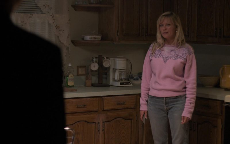 Champion Pink Sweatshirt Worn by Kirsten Dunst as Krystal Stubbs in On Becoming a God in Central Florida (2)