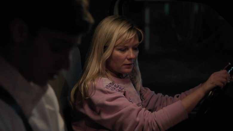 Champion Pink Sweatshirt Worn by Kirsten Dunst as Krystal Stubbs in On Becoming a God in Central Florida (4)