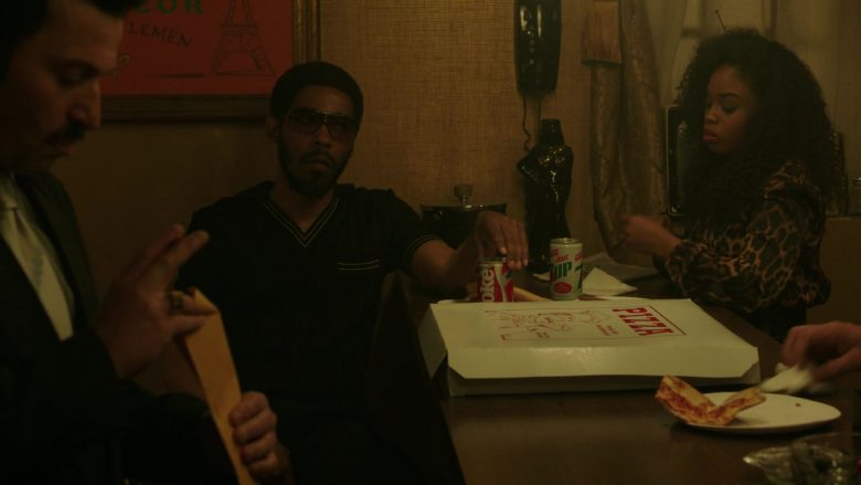 """Coca-Cola and Diet 7UP Cans in The Deuce Season 3 Episode 7 """"That's a Wrap"""""""