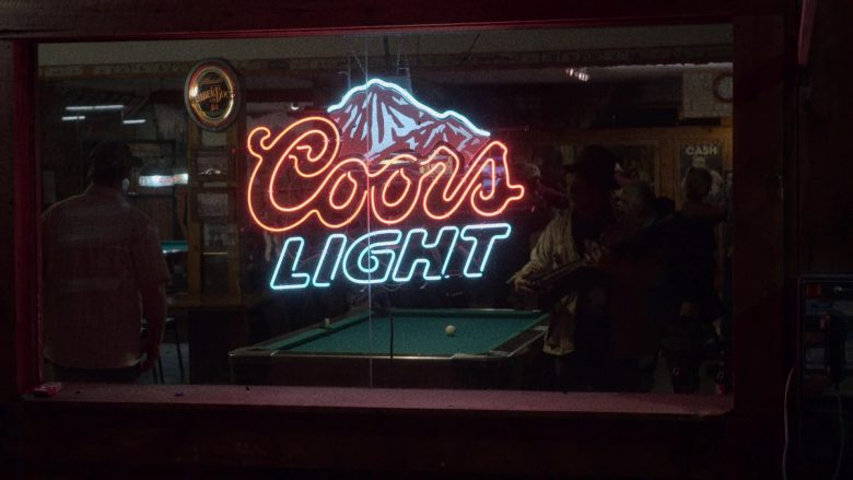 """Coors Light Neon Sign in The Ranch Season 4 Episode 6 """"The Devil Is Alive and Well"""" (2019) TV Show"""
