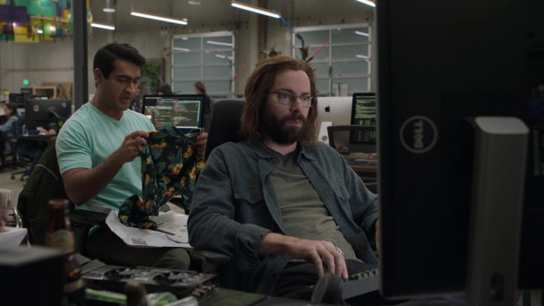 "Dell Monitor Used by Martin Starr as Bertram Gilfoyle in Silicon Valley Season 6 Episode 1 ""Artificial Lack of Intelligence"" (2019) - TV Show Product Placement"