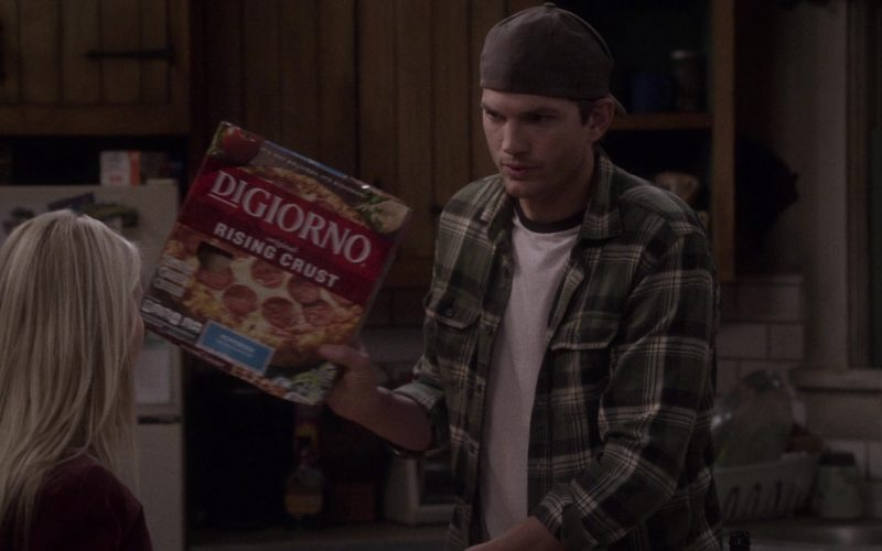 DiGiorno Rising Crust Pizza Held by Ashton Kutcher as Colt Reagan Bennett in The Ranch Season 4 Episode 5
