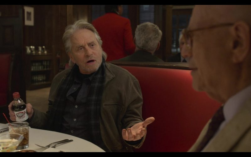Diet Dr Pepper Bottle Held by Michael Douglas in The Kominsky Method Season 2 Episode 5