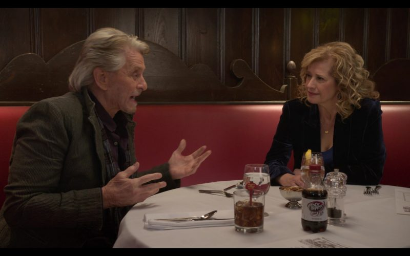 Diet Dr Pepper Enjoyed by Michael Douglas in The Kominsky Method Season 2 Episode 4 (3)