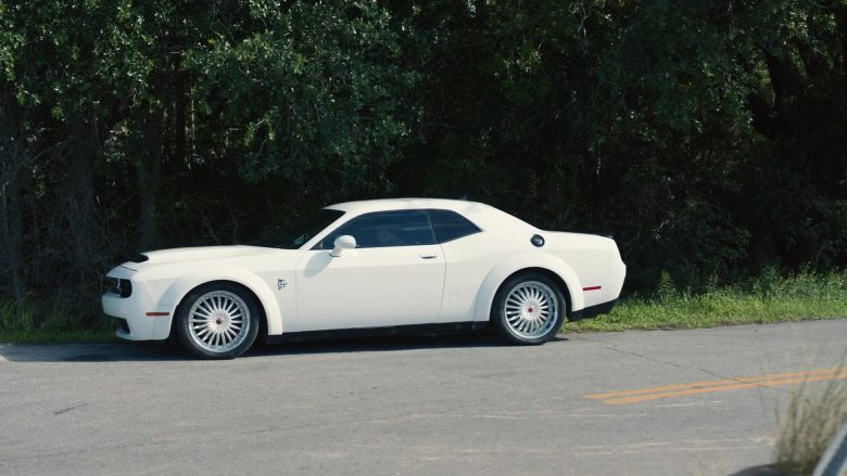Dodge Challenger SRT White Car Used by Danny McBride as Jesse Gemstone in The Righteous Gemstones Season 1 Episode 9 (1)