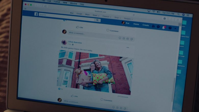 "Facebook Website in Mrs. Fletcher Season 1 Episode 1 ""Empty Best"" (2019) - TV Show Product Placement"